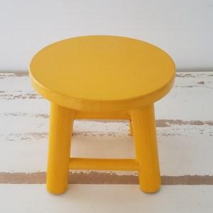 Mini Banquinho Redondo Amarelo