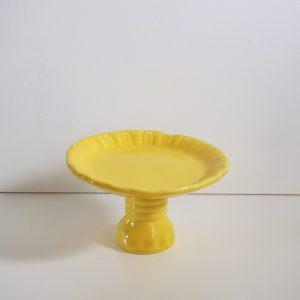 Porta Cupcake Cerâmica Amarelo