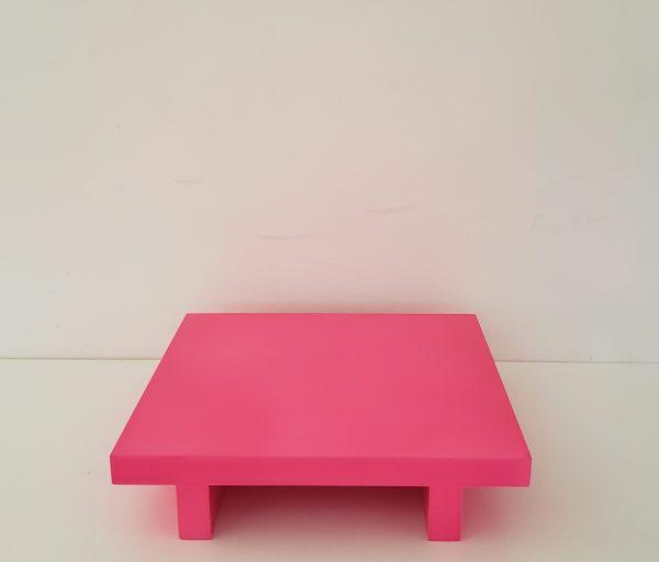 Bandeja Quadrada Rosa Neon