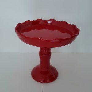 Boleira Alta em Cerâmica Vermelho M