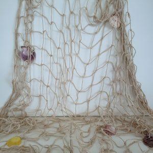Rede De Pesca Decorativa Com Conchas