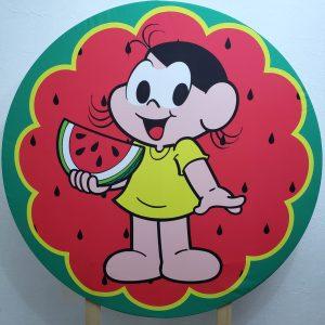 Painel Redondo com Tecido Sublimado Magali