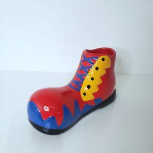 Sapato de palhaço decorativo Vermelho/Azul