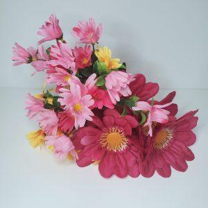 Buque Flores Artificiais Coloridas