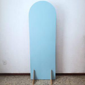 Tecido Para Painel Desconstruído Oval G cor Azul Claro
