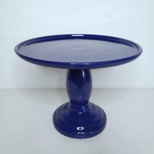 Suporte Boleira Cerâmica Azul Royal G