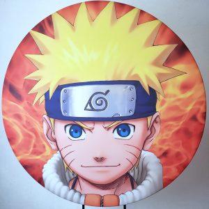 Suporte Redondo com Tecido Sublimado Naruto