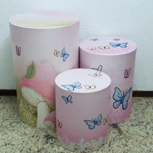 Capas para trio mesas cilindro Tecido sublimado Jardim