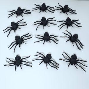 Mini Aranhas Decorativas Halloween 12 Unidades
