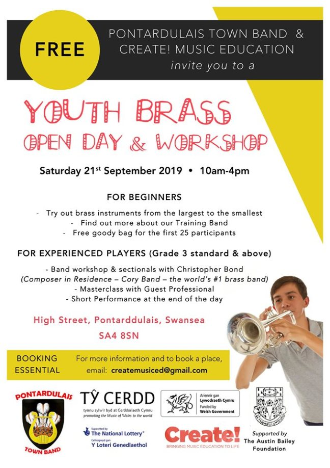 Youth Brass Open Day & Workshop 2019 Poster