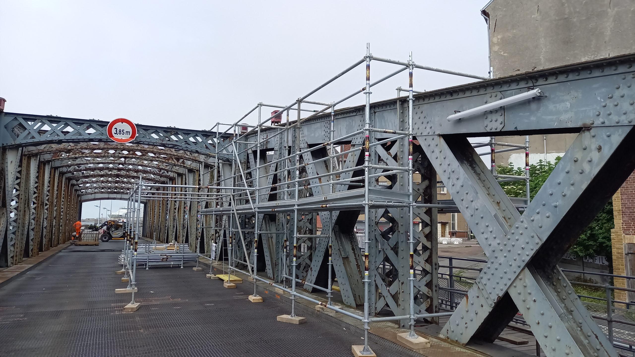 Pont Colbert - Montage échafaudage-©PortsdeNormandie