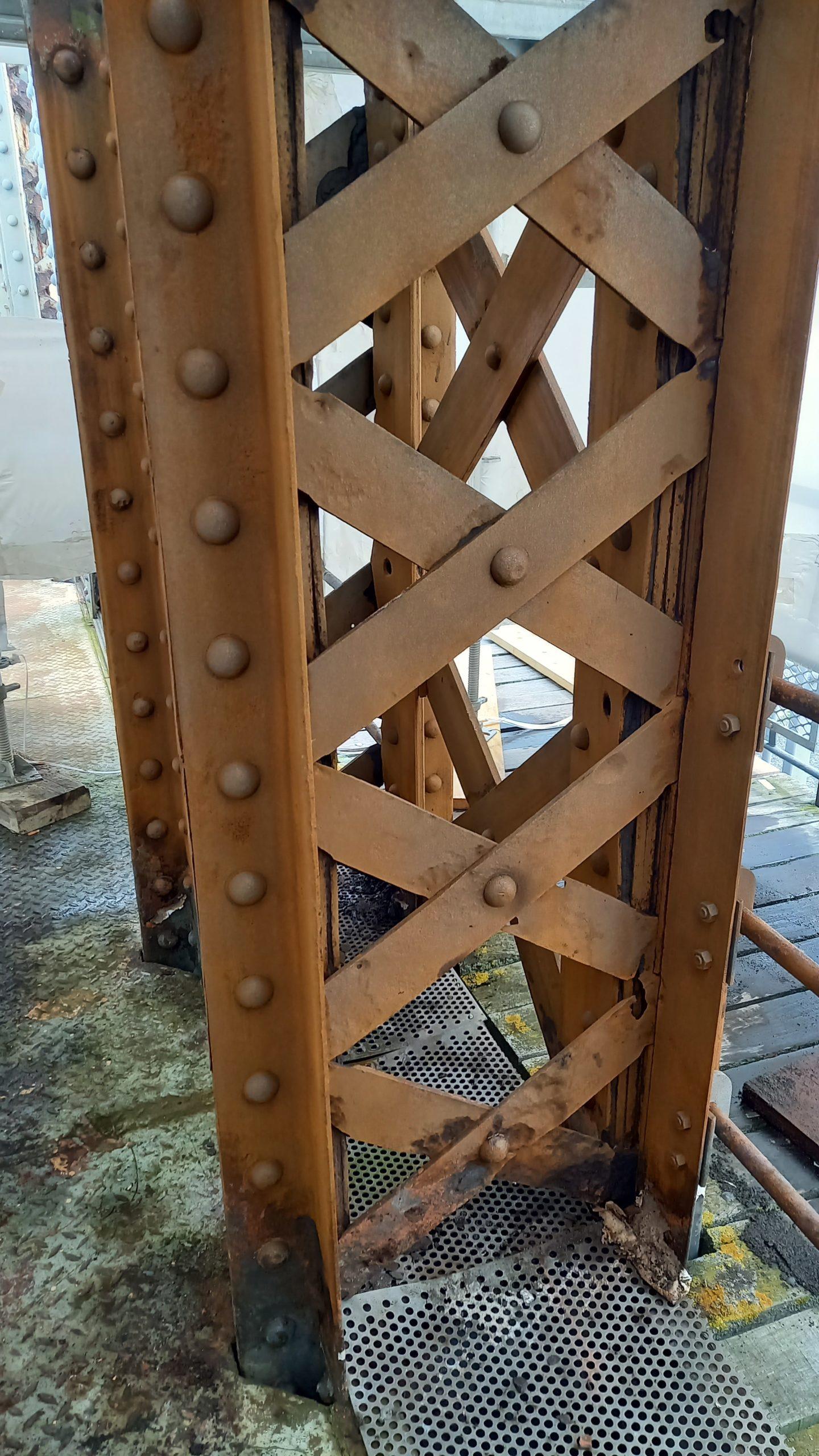 Pont Colbert - Structure métallique après décapage ® Ports de Normandie