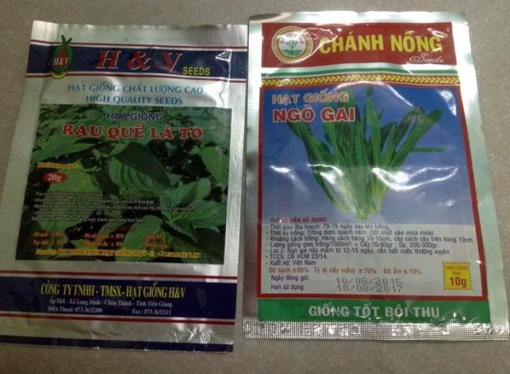 ベトナム料理用ハーブの種