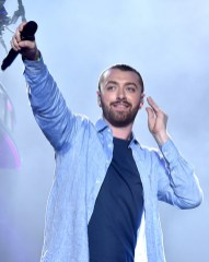 INDIO, CA - APRIL 16: Guest singer Sam Smith performs onstage during the Disclosure show on day 2 of the 2016 Coachella Valley Music & Arts Festival Weekend 1 at the Empire Polo Club on April 16, 2016 in Indio, California. (Photo by Kevin Winter/Getty Images for Coachella)