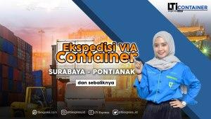 ekspedisi surabaya pontianak via container