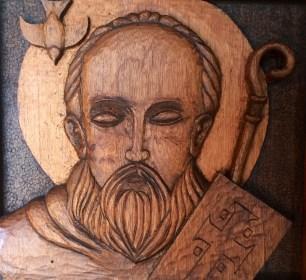 St. Columba finished detail
