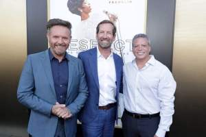 Mark Burnett, Chairman, Worldwide Television Group, MGM, Kevin Ulrich, MGM Board Chairman, and Michael De Luca, Motion Picture Group Chairman, MGM,