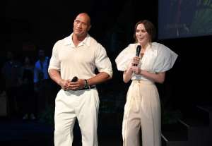 Dwayne Johnson and Emily Blunt - World Premiere Of Disney's Jungle Cruise