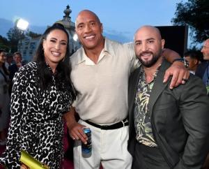 Dany Garcia, Dwayne Johnson, and Dave Rienzi - World Premiere Of Disney's Jungle Cruise