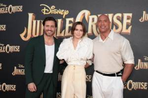 Edgar Ramírez, Emily Blunt, Dwayne Johnson - World Premiere of Jungle Cruise