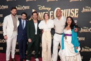 Jack Whitehall, Jaume Collet-Serra, Edgar Ramírez, Emily Blunt, Dwayne Johnson, Veronica Falcón - World Premiere of Jungle Cruise
