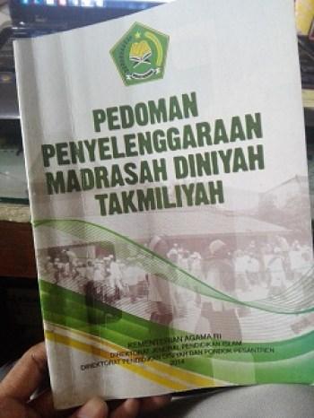 buku pedoman penyelenggaraan madrasah diniyah takmiliyah