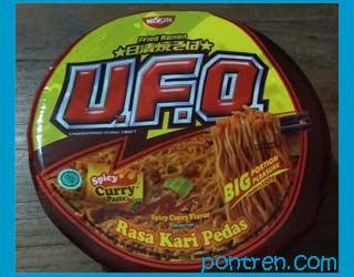 nissin fried ramen UFO Rasa Kari Pedas