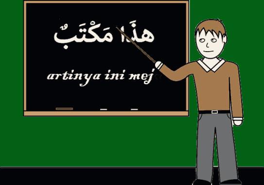 bahasa arabnya meja