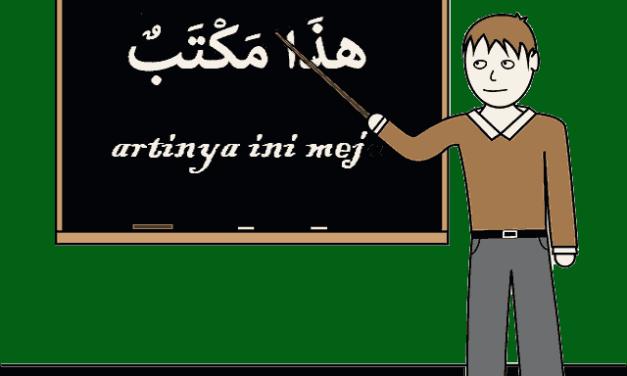 Bahasa Arabnya buku tas pensil  lemari Kelas Meja kursi