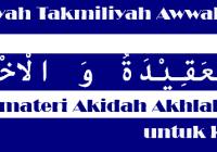 materi aqidah ahlak Madin