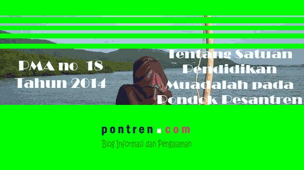 PMA no 18 tahun 2014 tentang Muadalah
