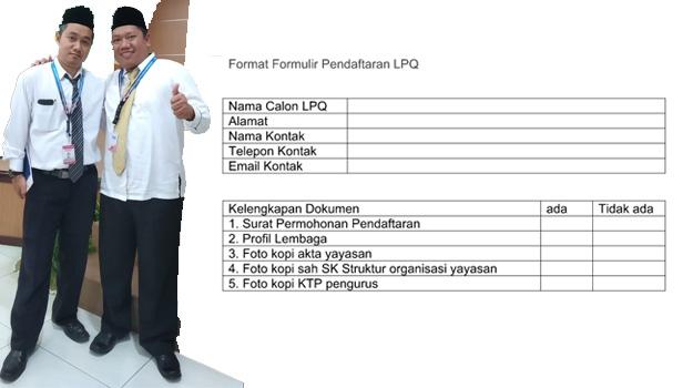 blangko formulir pendaftaran LPQ