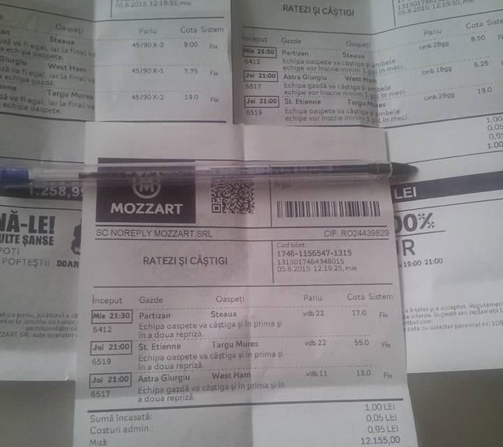 Bilete Pariuri : Vor face surprize echipele Romanesti in Europa ?