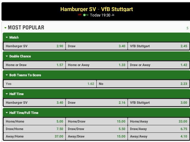Hamburger vs Stuttgart