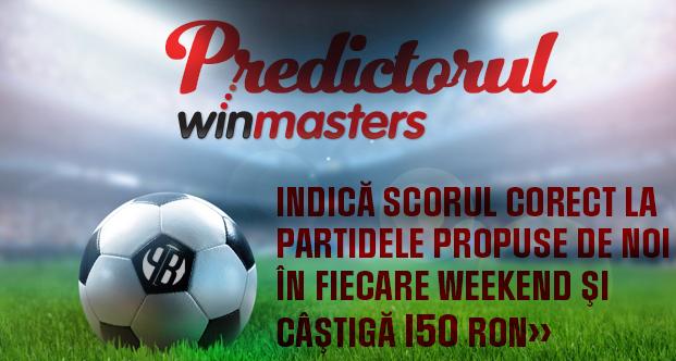Predictorul Winmasters – castiga 150 ron