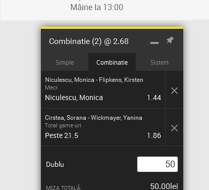 BILETUL ZILEI Fed Cup (11.02.2017) @ România vs. Belgia