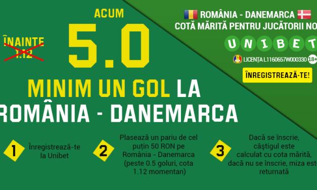 Cota mult marita pentru un gol marcat in meciul Romania – Danemarca
