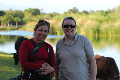 Our guide Maria Elena Muriel (Left) of