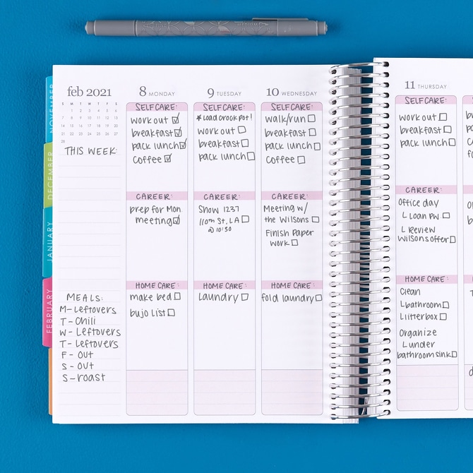 erin condren planner weekly view