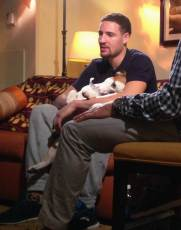 Klay Thompson and his dog Rocco
