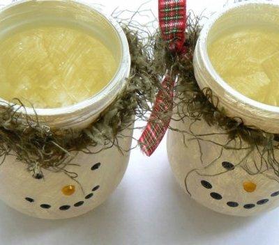 Repurposed Glass Jars Made into Luminaries