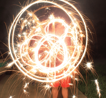Open Shutter Photography {Sparkler Drawings}