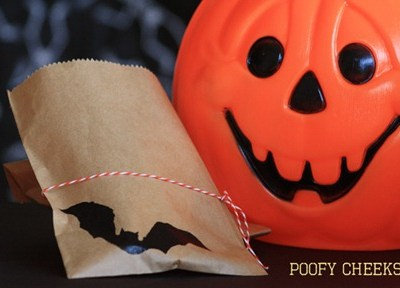 Bat Halloween Treat Bags