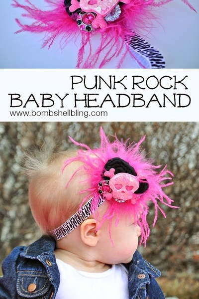 Punk Rock Baby Headband by Bombshell Bling