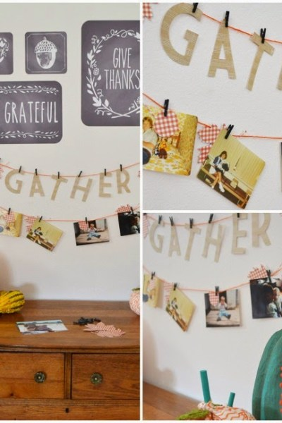 Grateful Fall Photo Banner – Thanksgiving Decoration