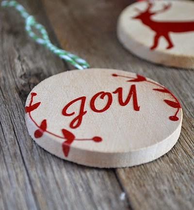 Handmade Christmas Ornament DIY – Wood and Vinyl