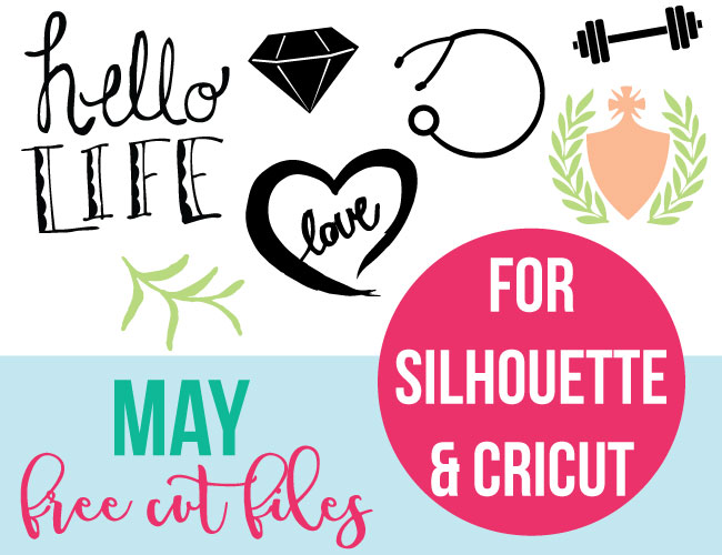 May Free Cut Files for Silhouette and Cricut - SVG and DXF Files