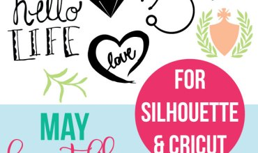 May Free Cut Files for Silhouette and Cricut – SVG and DXF Files
