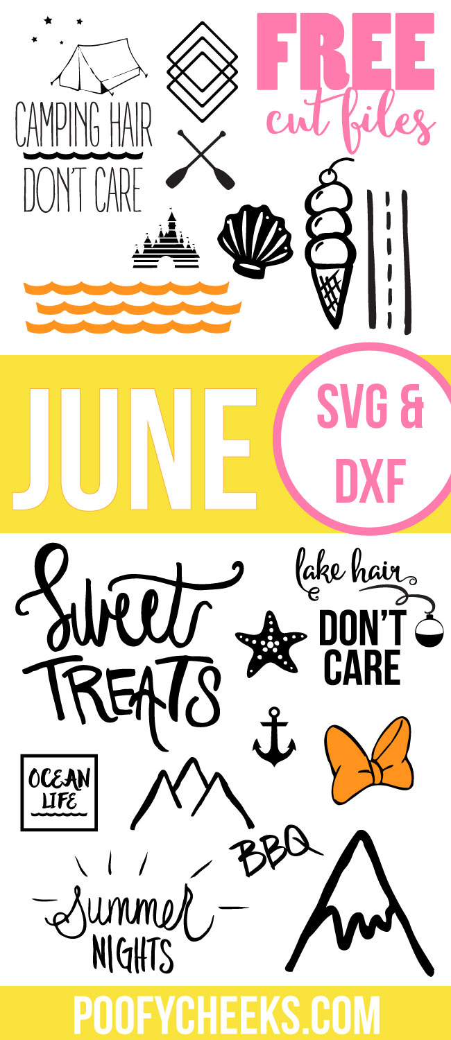 June Cut Files - free SVG files and DXF Summer files