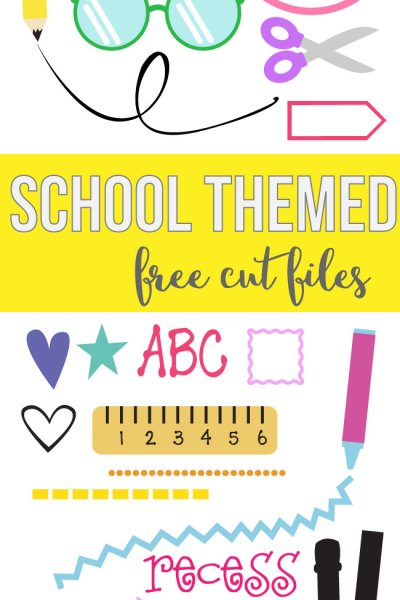 Back to School Themed Cut Files – For Silhouette and Cricut Machines – Vector Files